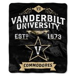 The Northwest Company Vanderbilt University Label Raschel Throw