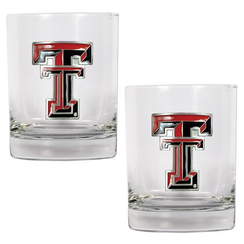 Great American Products Texas Tech University 14 oz. Rocks Glasses 2-Pack