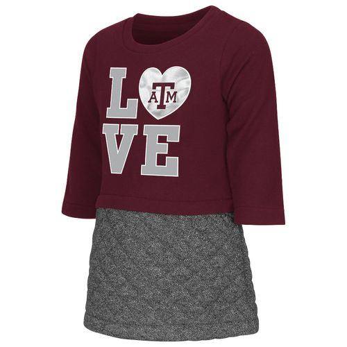 Colosseum Athletics Toddler Girls' Texas A&M University Glitter Dress