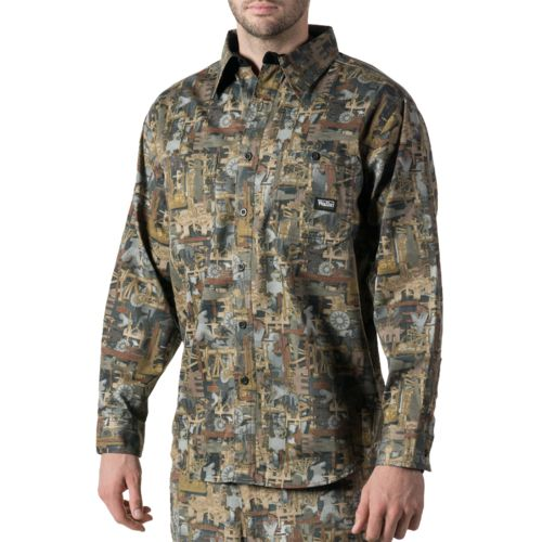 Walls Men's Oilfield Camo Cape Back Long Sleeve Shirt