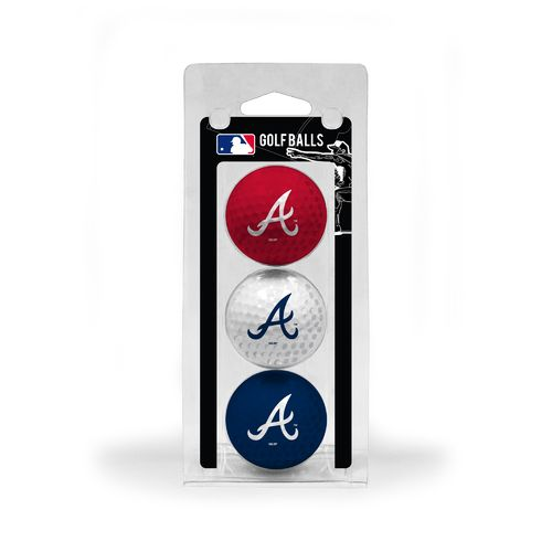 Team Golf Atlanta Braves Golf Balls 3-Pack