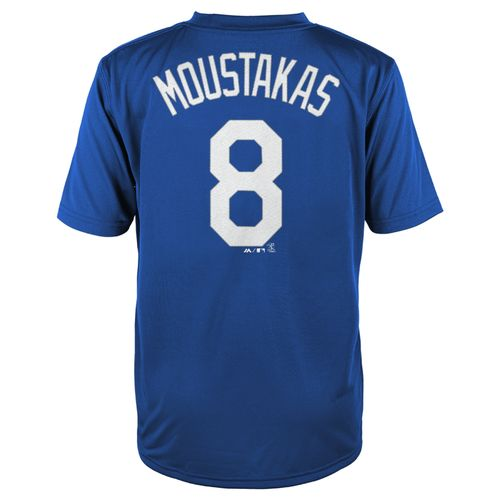 MLB Boys' Kansas City Royals Mike Moustakas #08 Flat Synthetic T-shirt