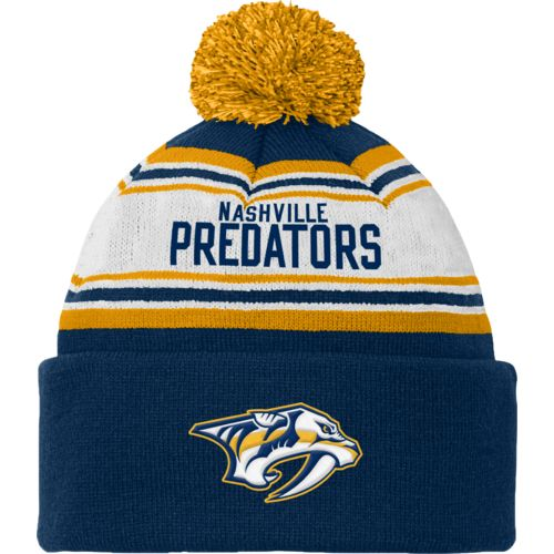 Reebok Kids' Nashville Predators Cuffed Knit Hat with Pom