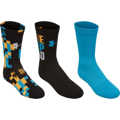 Under Armour® Kids' Next Statement Crew Socks 3-Pair
