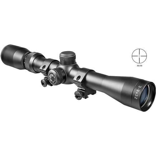 Barska Plinker 22 Series 3 - 9 x 32 Riflescope with Rings