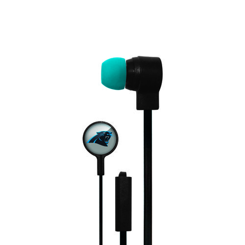 Mizco Carolina Panthers Big Logo Earbuds
