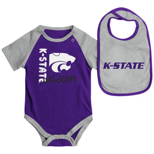 Colosseum Athletics Infants' Kansas State University Rookie Onesie and Bib Set
