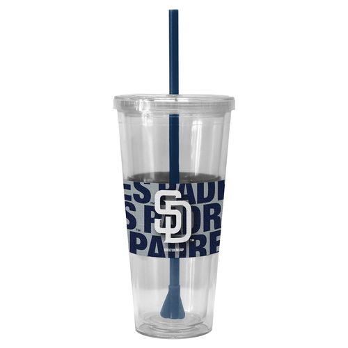 Boelter Brands San Diego Padres Bold Neo Sleeve 22 oz. Straw Tumblers 2-Pack