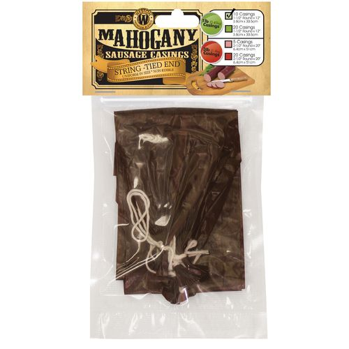 "Weston 1.5"" x 12"" Mahogany 1 lb. Sausage"