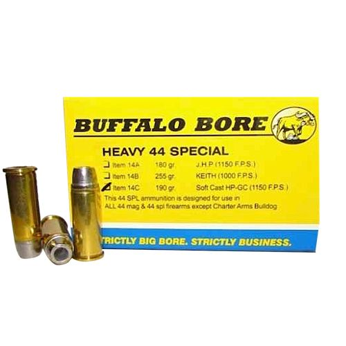 Buffalo Bore .44 Special 190-Grain Soft-Cast Hollow-Point Centerfire Handgun Ammunition - view number 1