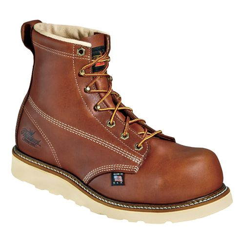 "Display product reviews for Thorogood Shoes Men's American Heritage 6"" Emperor Toe Composite Safety Toe Wedge Work Boots"