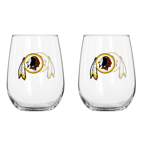 Boelter Brands Washington Redskins 16 oz. Curved Beverage Glasses 2-Pack