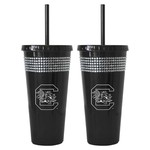 Boelter Brands University of South Carolina 22 oz. Bling Straw Tumblers 2-Pack - view number 1