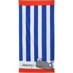 O'Rageous® Whale Stripe Beach Towel