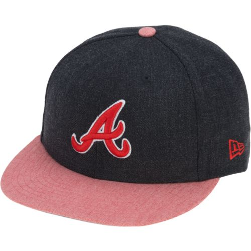 New Era Men's Atlanta Braves 39THIRTY Heather Act Snap Ball Cap