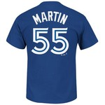 Majestic Men's Toronto Blue Jays Russell Martin #55 T-shirt