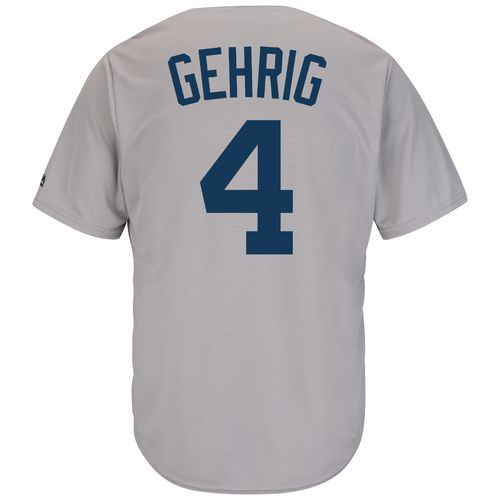 Majestic Men's New York Yankees Lou Gehrig #4 Cooperstown Cool Base 1927 Replica Jersey
