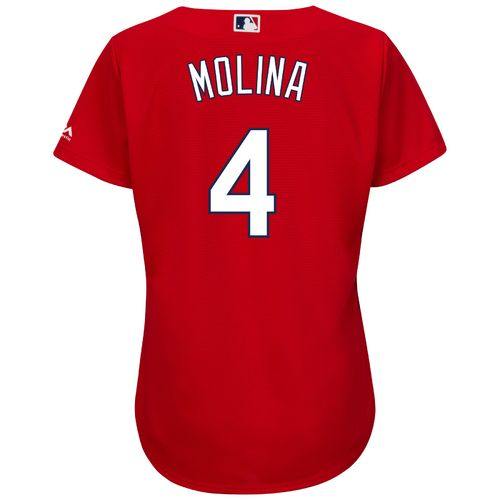 Majestic Women's St. Louis Cardinals Yadier Molina #4 Cool Base Replica Jersey - view number 1