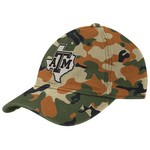 adidas™ Men's Texas A&M University Camo Flex Slouch State Logo Cap