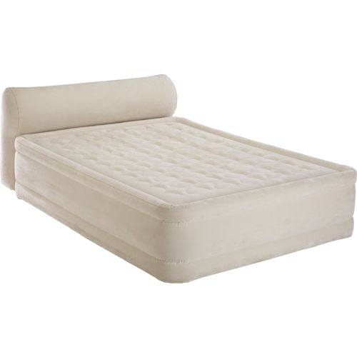 INTEX® Dura-Beam Headboard Queen-Size Airbed with Built-in Pump