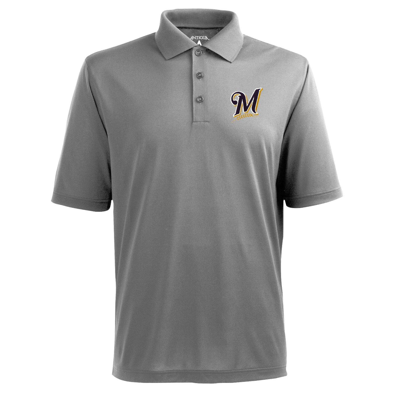 Antigua Men's Milwaukee Brewers Piqué Xtra-Lite Polo Shirt