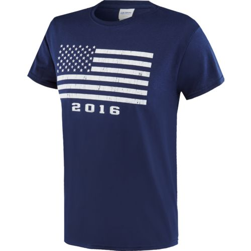 Display product reviews for Academy Sports + Outdoors Adults' Americana 2016 Rough Stencil Flag T-shirt