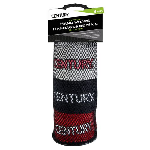 Century 108 in Cotton Hand Wraps 3-Pack