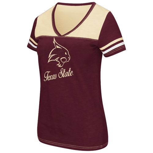 Colosseum Athletics™ Women's Texas State University Rhinestone Short Sleeve T-shirt