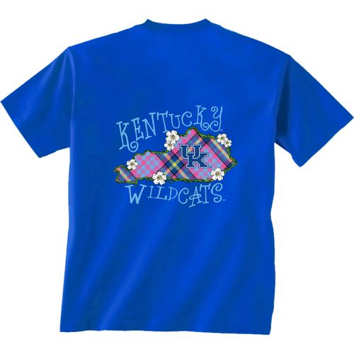 New World Graphics Women's University of Kentucky State Bright Plaid T-shirt
