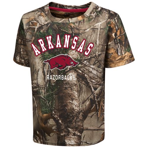 Colosseum Athletics™ Toddler Boys' University of Arkansas Blacktail Camo T-shirt