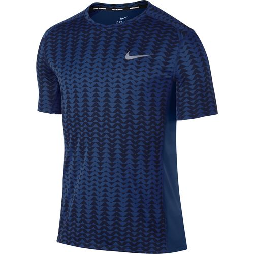Nike Men's Dry Miler Short Sleeve Printed Running T-shirt