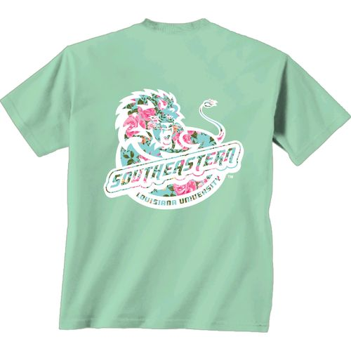 New World Graphics Women's Southeastern Louisiana University Floral T-shirt