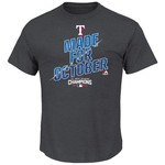Majestic Boys' Texas Rangers 2016 American League West Champions T-shirt