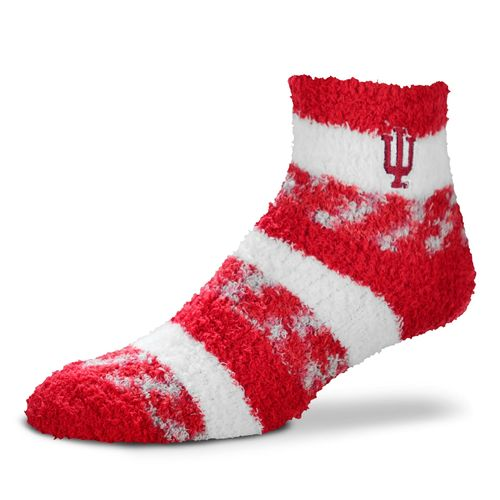 For Bare Feet Women's Indiana University Stripe Sleep Socks