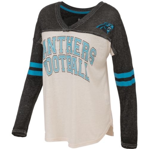 G-III for Her Women's Carolina Panthers Field Position Long Sleeve T-Shirt