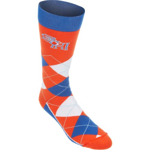 For Bare Feet Unisex Sam Houston State University Team Pride Flag Top Dress Socks