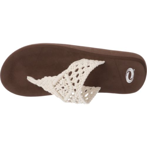 O'Rageous Women's Crochet Thong Sandals - view number 4