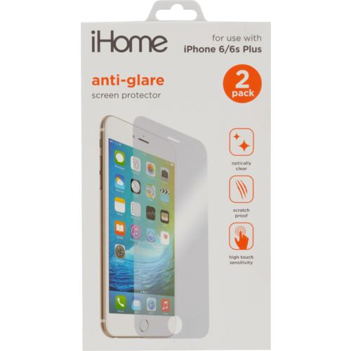 iHome Antiglare Screen Protectors for iPhone® 6 Plus/6s Plus 2-Pack