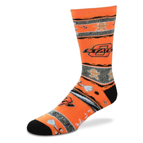 FBF Originals Men's Oklahoma State University Christmas Sweater Socks