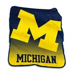 Logo University of Michigan 50 in x 60 in Raschel Throw - view number 1