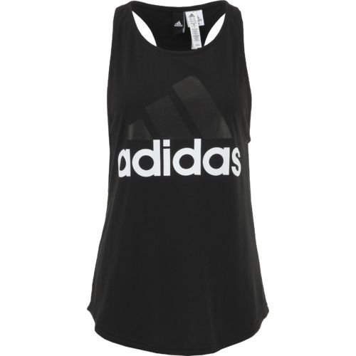 adidas Women's Essentials Linear Logo Loose Tank Top