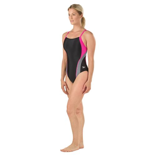 Speedo Women's Relaunch Splice Flyback 1-Piece Swimsuit