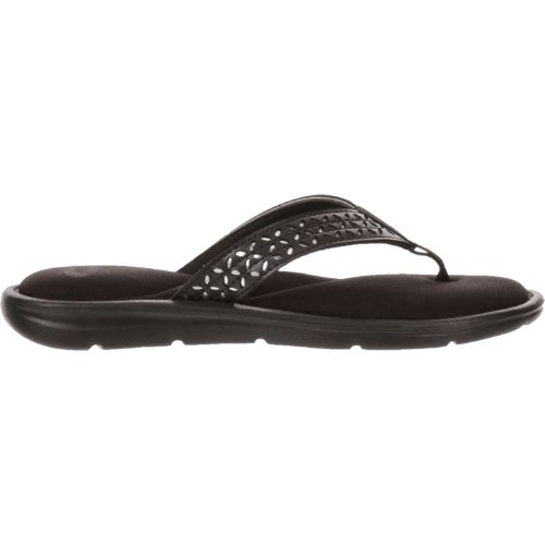 O'Rageous Women's Laser-Cut Memory Thong Sandals