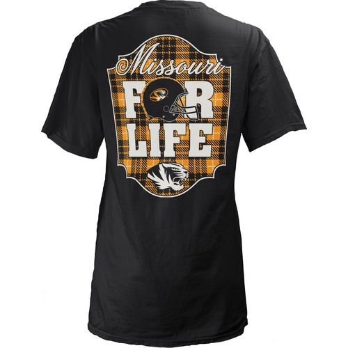 Three Squared Juniors' University of Missouri Team For Life Short Sleeve V-neck T-shirt