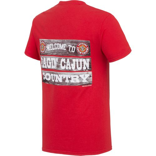New World Graphics Men's University of Louisiana at Lafayette Welcome Sign T-shirt - view number 2