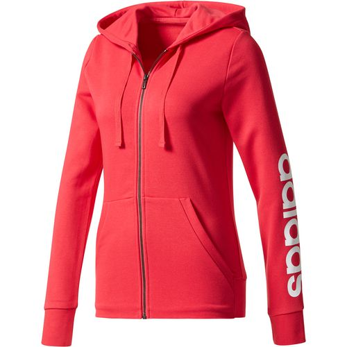 Display product reviews for adidas Women's Essentials Linear Full Zip Hoodie