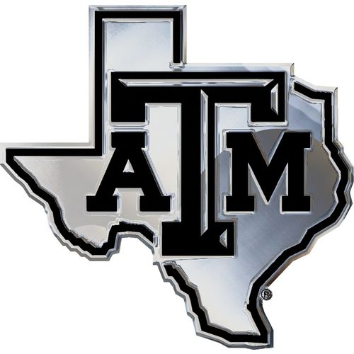 Stockdale Texas A&M University Chrome Alt Logo Auto Emblem