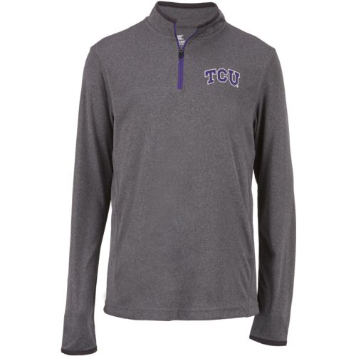Colosseum Athletics Youth Texas Christian University Action Pass 1/4 Zip Wind Shirt