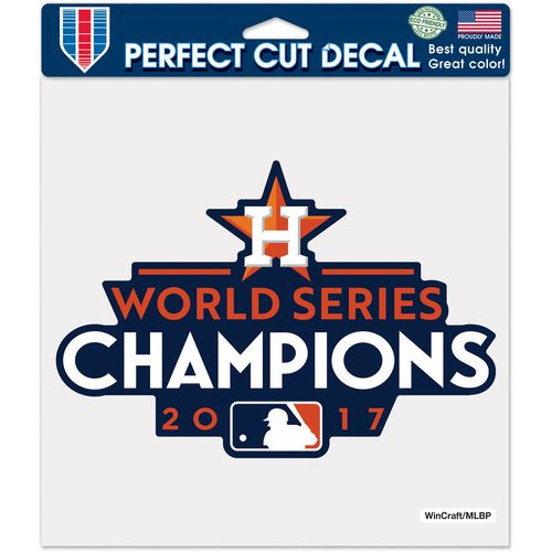 WinCraft Astros 2017 World Series Champions Perfect Cut 8x8 Decal