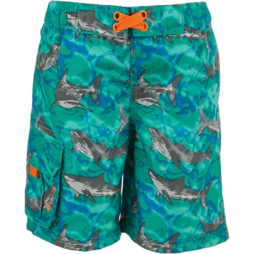 O'Rageous Boys' Sketchy Shark Printed Boardshorts
